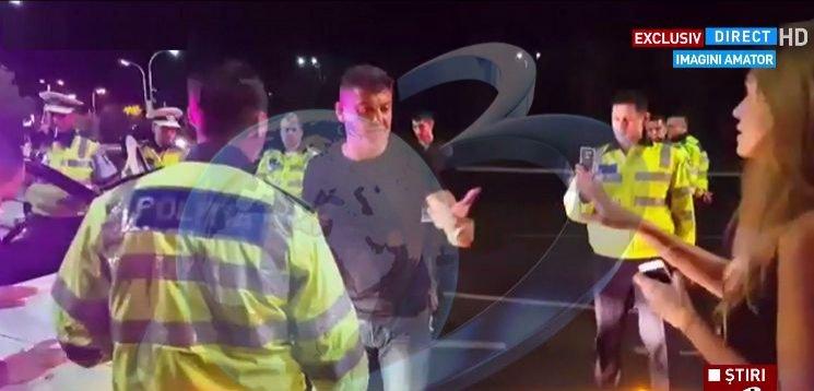 SCANDAL în trafic! Cristian Boureanu, ÎNCĂTUȘAT după ce a LOVIT un polițist: 'Îți sparg fața' /VIDEO