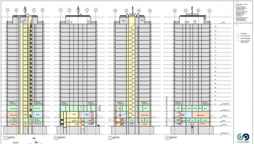Blocul devastat de incendiu avea un mare defect. Planurile imobilului cu 120 de apartamente arată dimensiunea tragediei