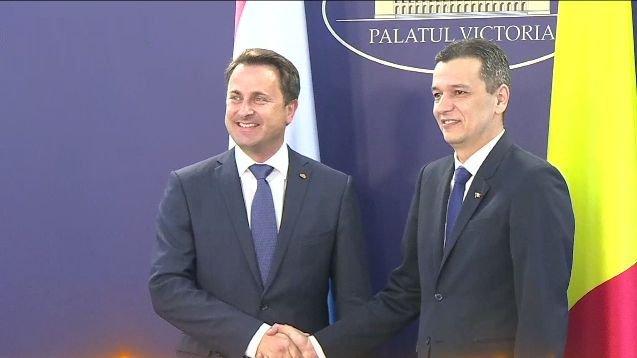 Sorin Grindeanu, întâlnire cu premierul Luxemburgului în plină criză politică