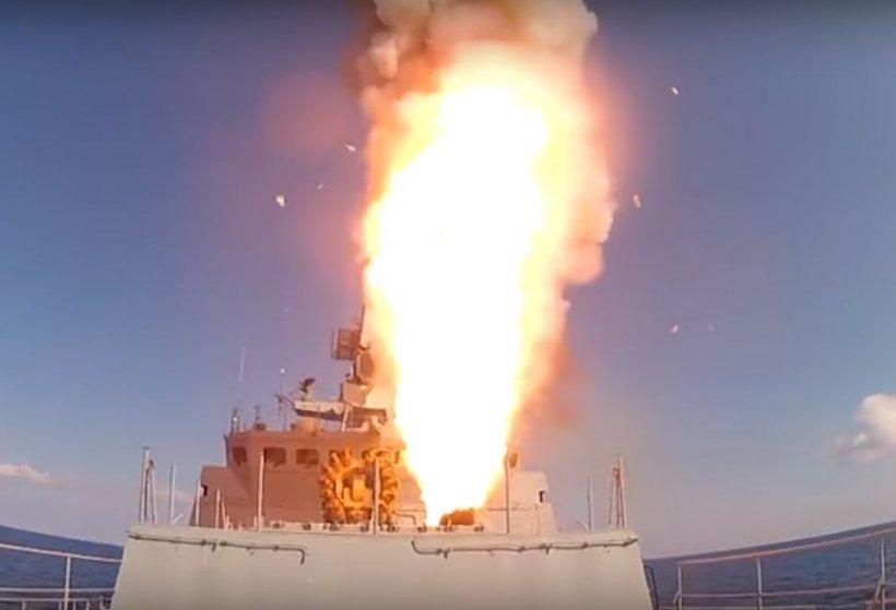 Rușii au atacat cu rachete de croazieră, trupele ISIS din Siria - VIDEO