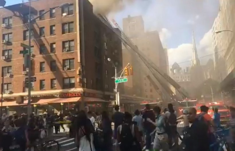 Massive explosion in Manhattan a little while ago