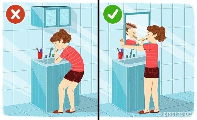 Cum trebuie sa stai cand te speli pe dinti! Acum faci o greseala uriasa