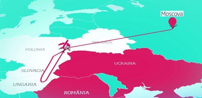 Ce spun pasagerii care au călătorit în același avion cu Rogozin. Reacția autorităților românești