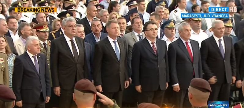 Antena 3 a demarat proiectul Parcul Memoriei Naţionale. Iohannis, Tudose, Dragnea - umăr la umăr la Mărășești