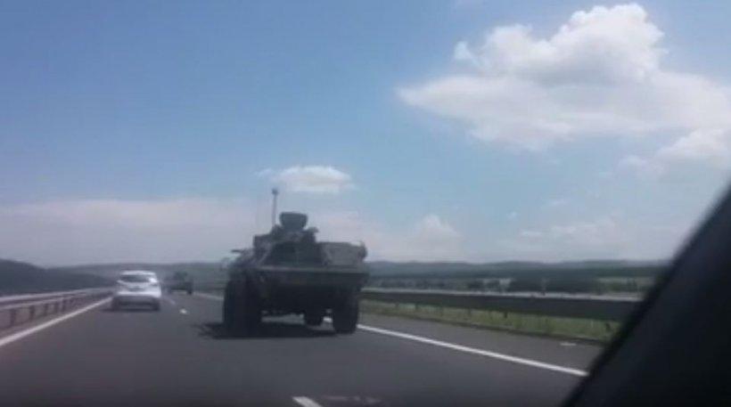 O mașină a trupelor NATO, implicată într-un accident pe autostradă