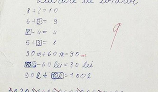 Profesoara a întrebat-o cât fac 9 X 9. Fetița a dat un răspuns care a uimit toți profesorii. Ce a scris copila în lucrarea de control
