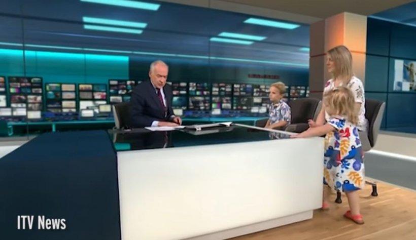 O fetiță a întrerupt o emisiune TV. Reacția prezentatorului este uluitoare (FOTO+VIDEO)