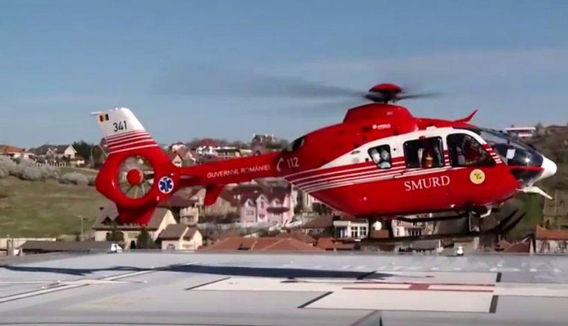 Turistă căzută într-o zonă periculoasă a Masivului Făgăraş. Un elicopter SMURD este pregătit să intervină pentru salvarea femeii