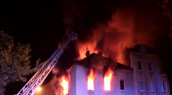 Doi români au murit în Germania, după ce o clădire locuită de imigranţi a fost incendiată - VIDEO