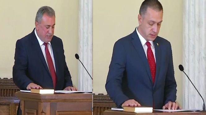 Schimbare în Guvern. Mihai Fifor a preluat portofoliul Apărării, iar Gheorghe Şimon, Ministerul Economiei. Imagini de la ceremonia de depunere a jurământului - VIDEO