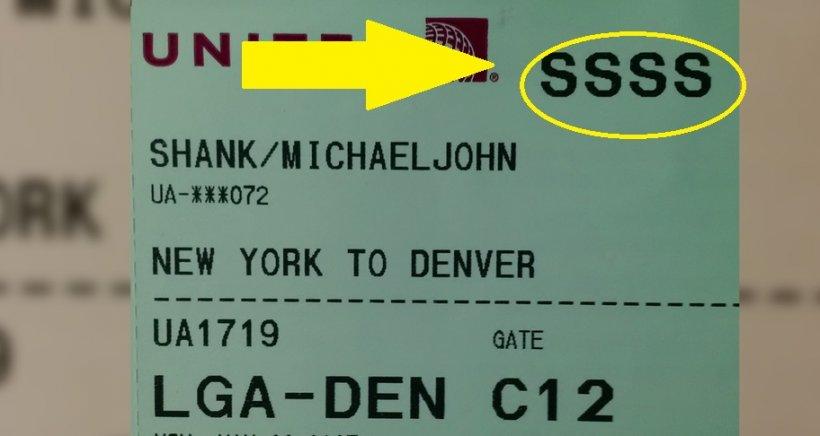 Ai SSSS pe biletul de avion? Nu arăta asta nimănui şi mergi de urgență la ghișeu. Ce se poate întâmpla nu îți va pica bine deloc