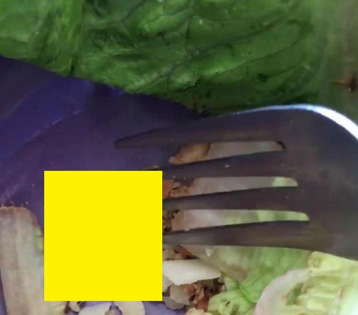 """Ce a descoperit o femeie în salata gata preparată pe care a cumpărat-o. A început imediat să urle de groază: """"Este viu!"""" - VIDEO"""