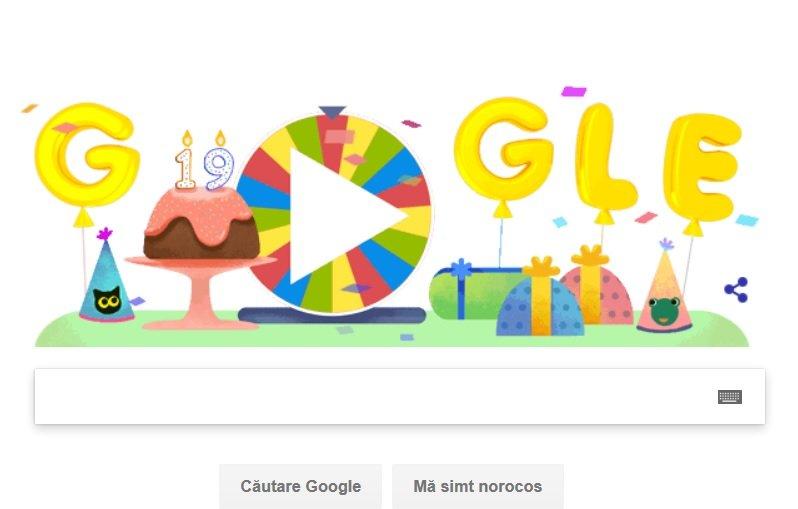 ROATA ANIVERSARĂ GOOGLE. Aniversarea Google celebrată cu un Google Doodle special