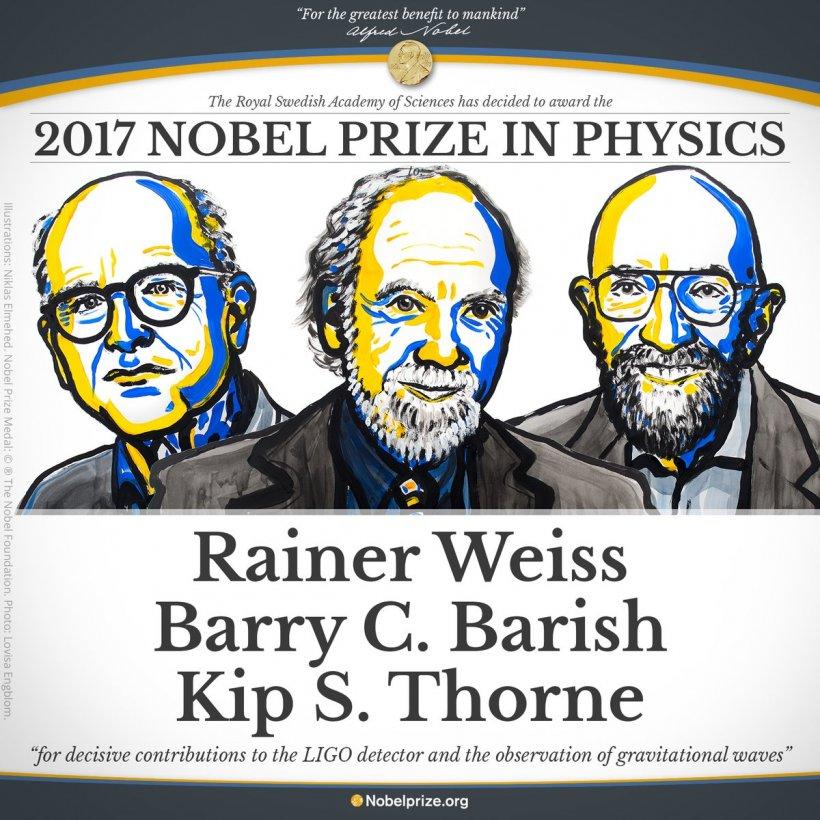 NOBEL 2017. Detectarea undelor gravitaţionale a fost recompensată cu Premiul Nobel pentru Fizică. Cine sunt câștigătorii