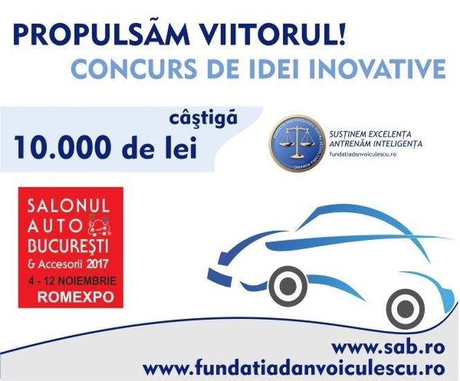 """Bursa SAB - """"Propulsăm viitorul"""" - 10.000 lei pentru cea mai spectaculoasă inovaţie"""