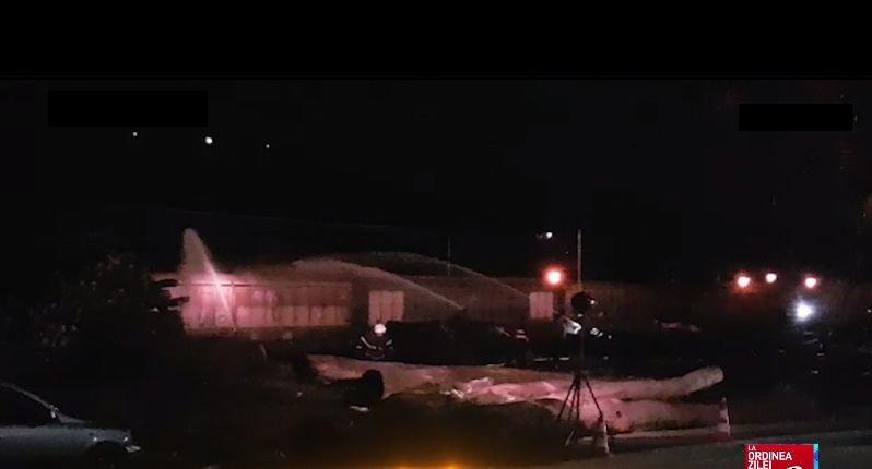 Incendiu la un tren încărcat cu nitrat de amoniu. Primele imagini de la locul incidentului