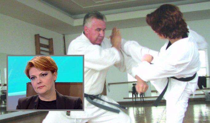Cum a luat Lia Olguța Vasilescu centura neagră la karate