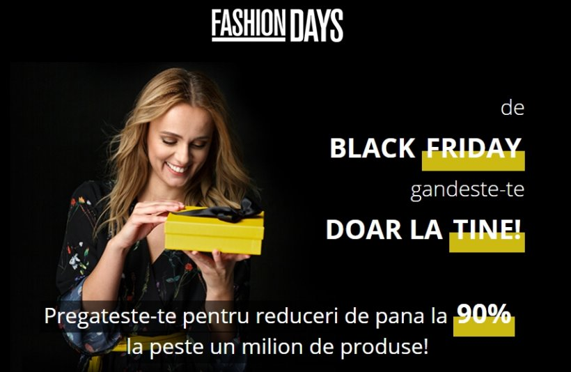 Black Friday 2017 Fashion Days a inceput de joi seara. Preturile mici dau navala, 90% reducere
