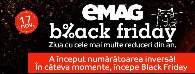 Black Friday 2017. eMAG dă startul reducerilor uriașe