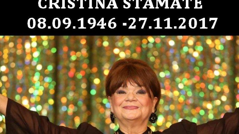 Anunțul Teatrului de Revistă Constantin Tănase, după moartea Cristinei Stamate