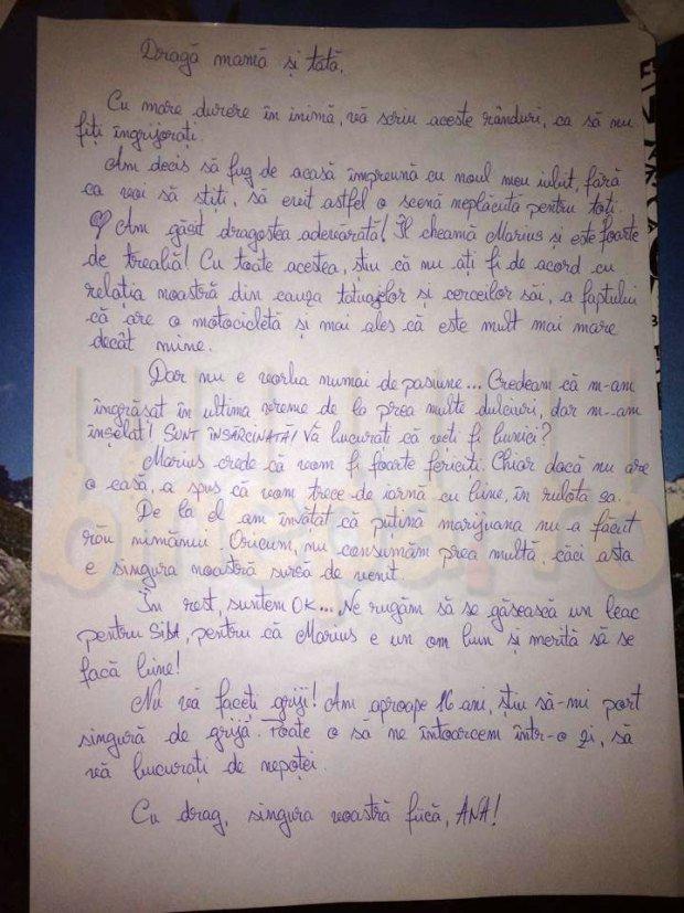 """""""Dragă mamă și tată..."""". O adolescentă de 16 ani din România le-a scris părinților că pleacă de acasă cu un bărbat mai în vârstă. Ce a urmat însă este uluitor...."""
