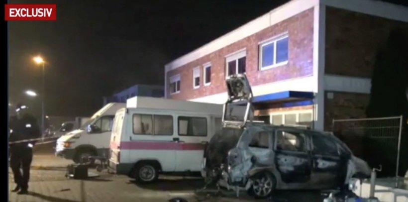 Clădire plină cu români, incendiată în Germania