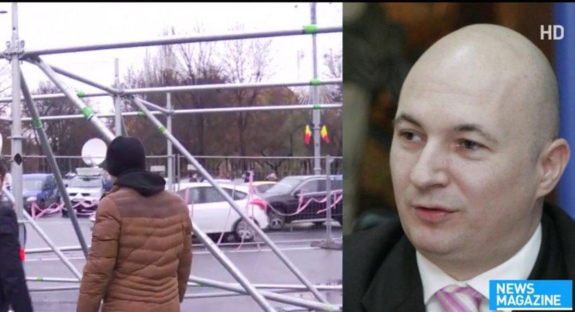 """Prima reacție a PSD, după incidentele de la protestul din Piața Victorie împotriva Târgului de Crăciun: """"Este un act de vandalism"""""""