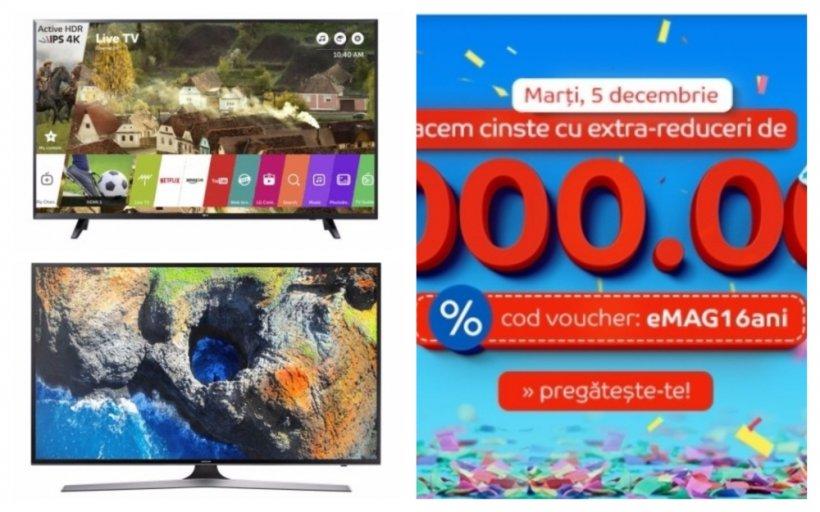 eMAG reduceri televizoare 4K Ultra HD de ziua eMAG. Luxul unor imagini de cristal la pret mic