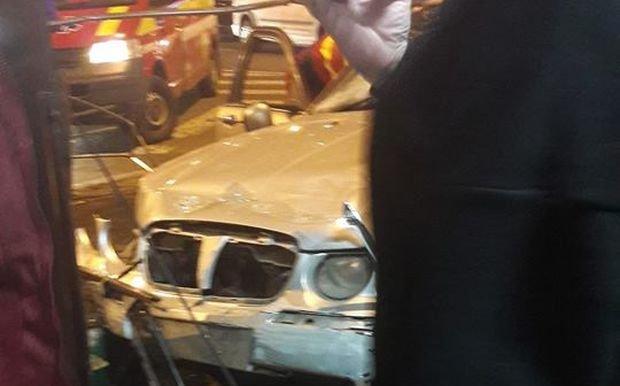 Accident în București. O mașină a ajuns în stația de metrou Obor - VIDEO