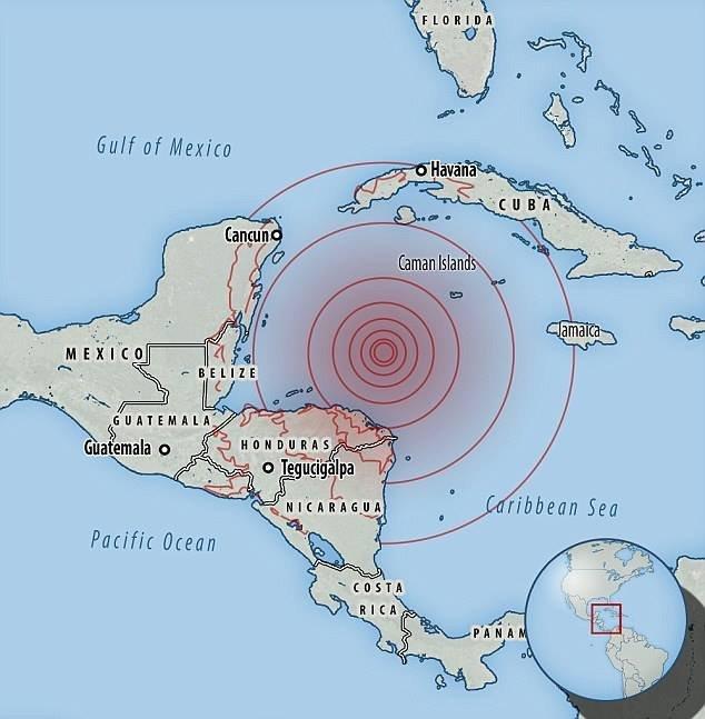 Cutremur puternic în Marea Caraibilor, resimţit în Honduras, Mexic şi Belize. A fost emisă alertă de TSUNAMI