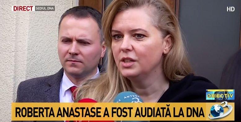 Roberta Anastase, audiată de procurorii DNA