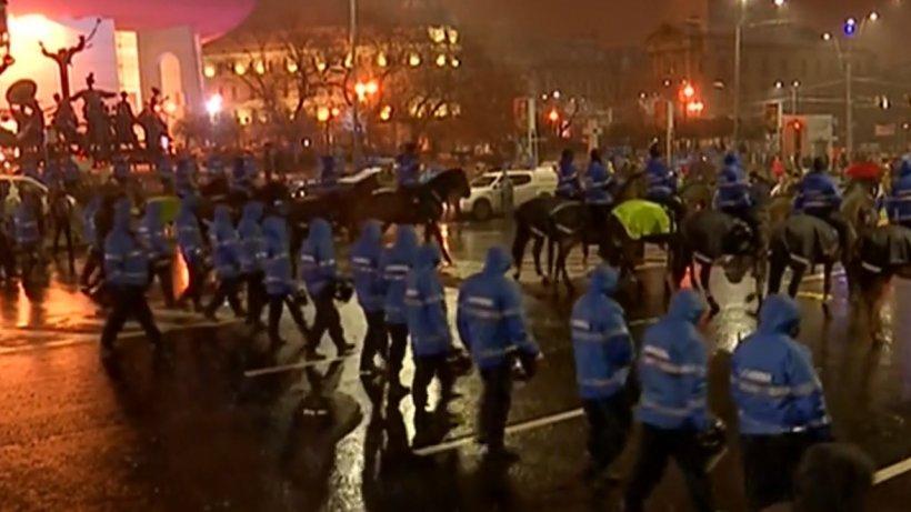 Jandarmeria prezintă bilanțul incidentelor de la protestul din Piața Universității