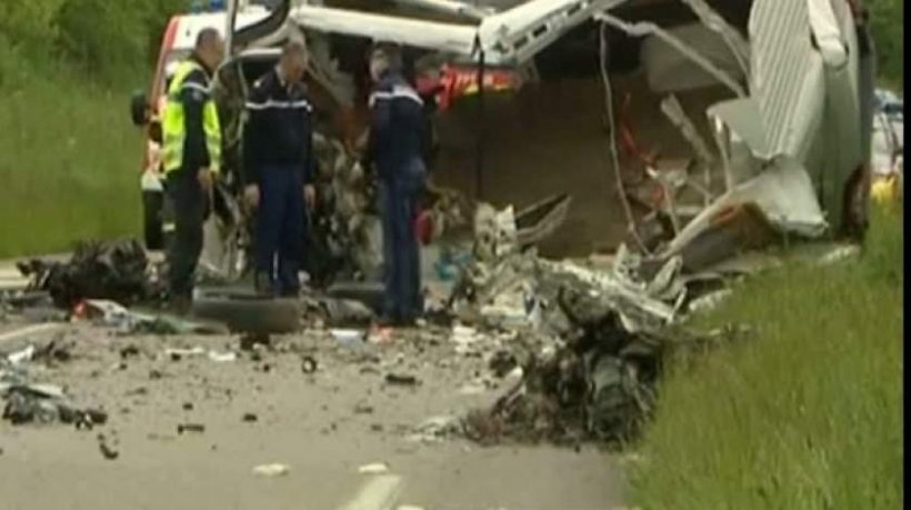 Familia unui șofer de TIR român, mort în chinuri groaznice într-un accident în Franţa, cere 5 milioane de euro despăgubire