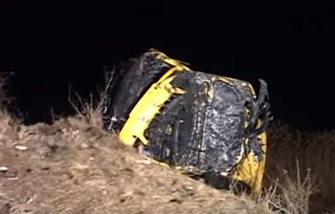 Caz șocant de suicid în Arad! S-a certat cu soția, iar apoi s-a aruncat cu mașina în lac (VIDEO)
