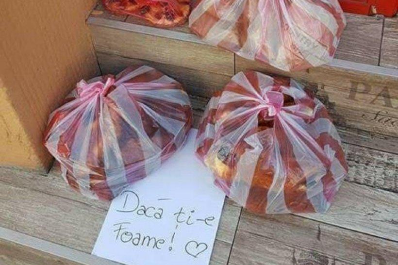 Patronul unei cafenele din Târgu Mureș a lăsat pachete cu mâncare în fața localului, pentru nevoiași. Doi pensionari s-au apropiat și e ireal ce a urmat