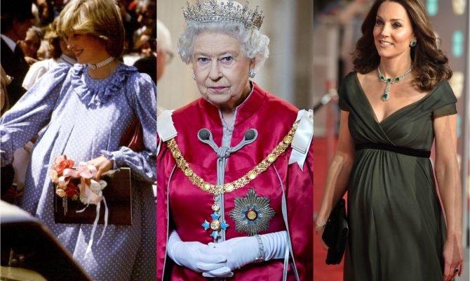 Ce protocol (absurd) trebuie să respecte gravidele și mămicile din familiile regale