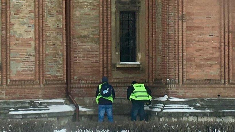 Imagini scandaloase după mitingul polițiștilor