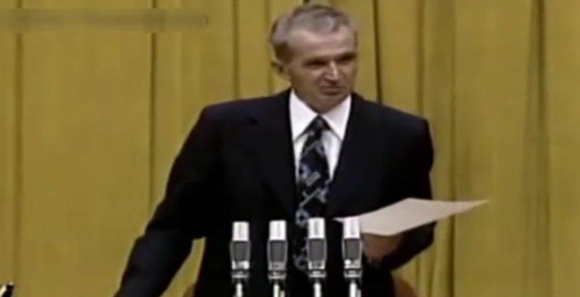 VIDEO. Ziua în care Ceaușescu a spus cel mai tare banc din istoria României comuniste. S-a aplaudat frenetic