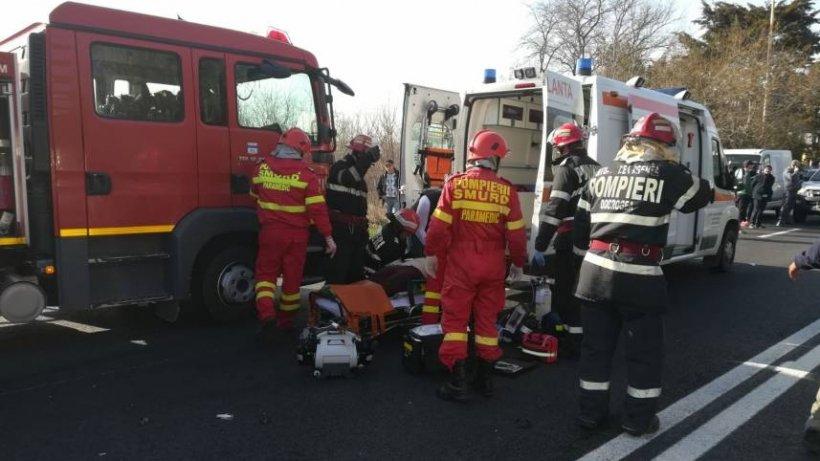 Șase victime, într-un grav accident produs lângă Neptun. A fost solicitat elicopterul SMURD