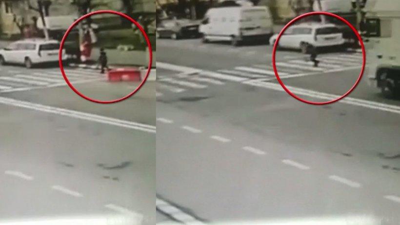 Fetiță de zece ani, lovită pe o trecere de pietoni din Capitală. Șoferul a fugit de la locul impactului - VIDEO
