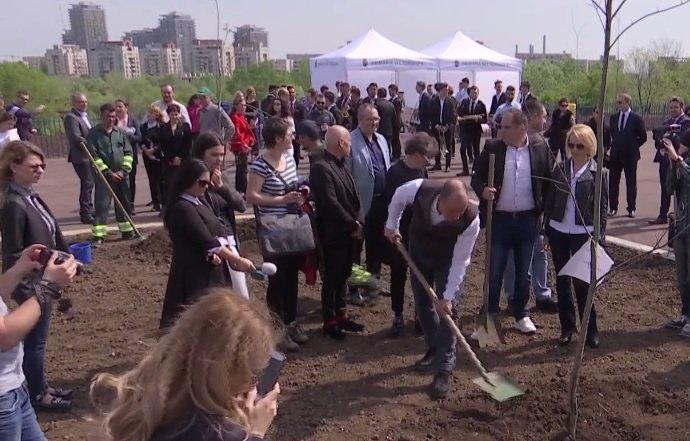 Capitala are primul parc dedicat Centenarului Marii Uniri