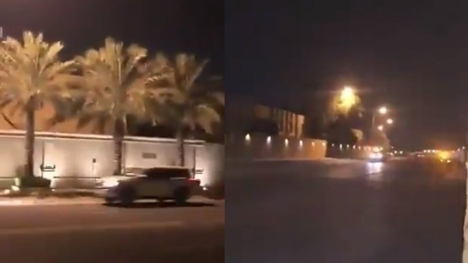 Mini-dronă, doborâtă cu focuri de armă lângă palatul regal din Riad - VIDEO