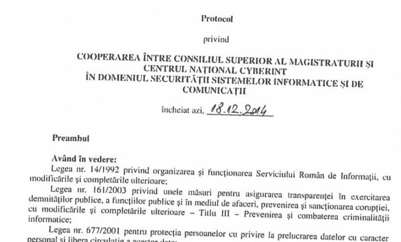 CSM a făcut public protocolul cu SRI