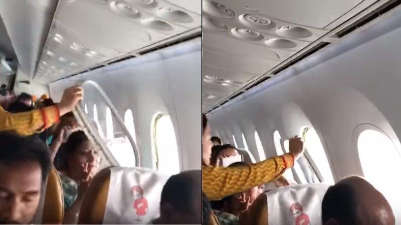 Panică la bordul unui avion!O fereastră s-a desprins în timpul zborului - VIDEO