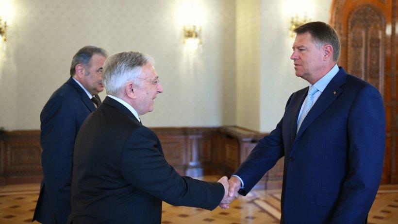 Klaus Iohannis se întâlnește cu conducerea BNR. Primele imagini de la Cotroceni