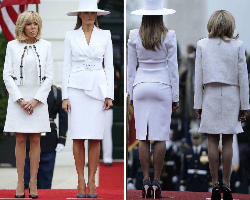 Melania Trump, o apariție mirobolantă la un eveniment de stat. A eclipsat-o total pe Brigitte Macron