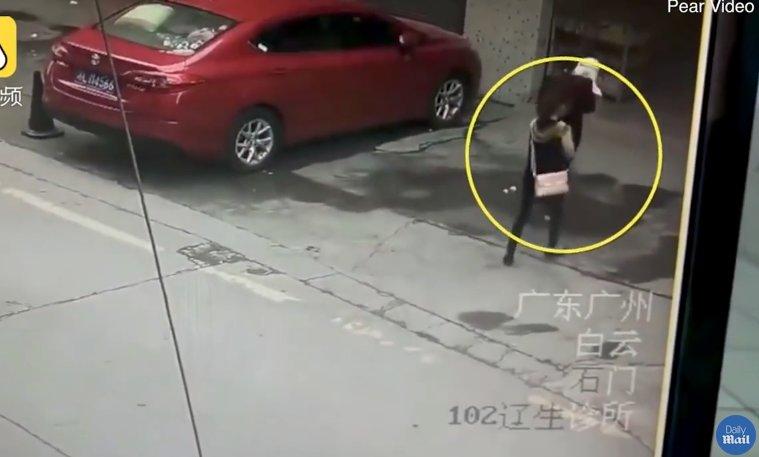 Șocant! A ajuns la spital după ce i-a căzut un câine în cap - VIDEO