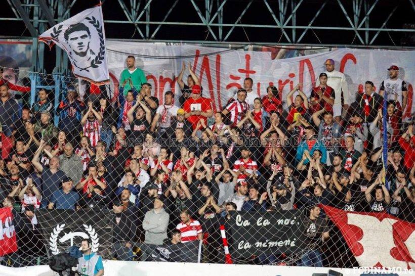 Scene șocante la meciul lui Dinamo de la Sfântu Gheorghe: Fanii au rupt gardul separator și au încercat să pătrundă în teren