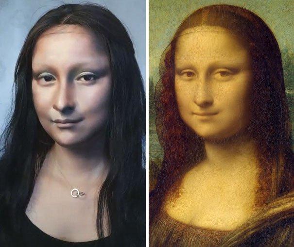 """Toți au rămas uimiți de asemănarea incredibilă dintre ea și celebrul tablou """"Mona Lisa"""""""