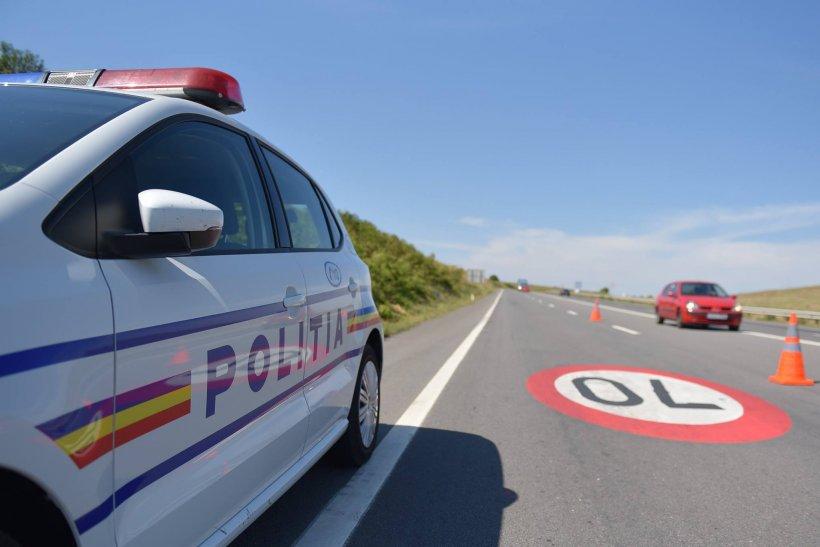 Polițiștii au oprit o mașină suprinsă cu 205 km/h pe DN5, între București și Giurgiu. Când au văzut cine era la volan și-au făcut cruce